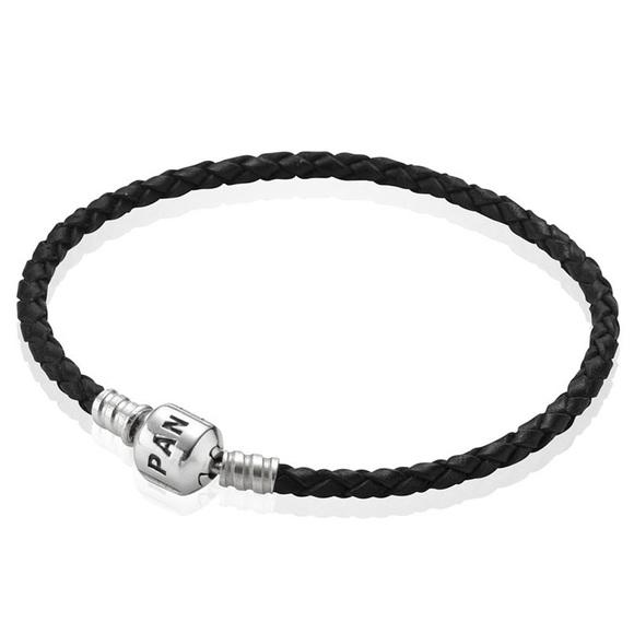 Pandora Jewelry - Pandora Single Black Braided Leather Bracelet